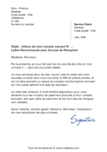 lettre de résiliation bnp paribas