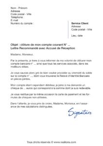 lettre de résiliation lcl