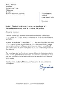 lettre de résiliation bouygues telecom mobile