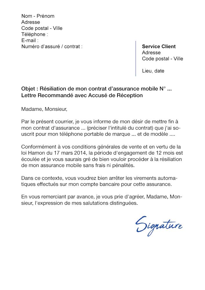 Lettre De Resiliation Assurance Mobile Bouygues Telecom Modele Gratuit