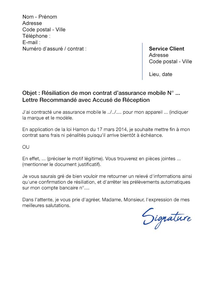 lettre de r u00e9siliation assurance mobile soci u00e9t u00e9 g u00e9n u00e9rale