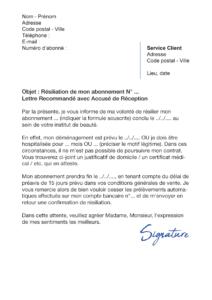 lettre de résiliation body minute