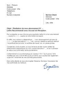 lettre de résiliation time for you