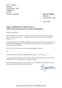 lettre de résiliation abonnement cofiroute