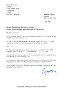lettre de résiliation gps coyote system